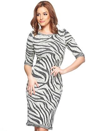 rochie cu imprimeu zebra