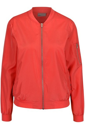 Jachetă bomber roșu corai Vero Moda Billa