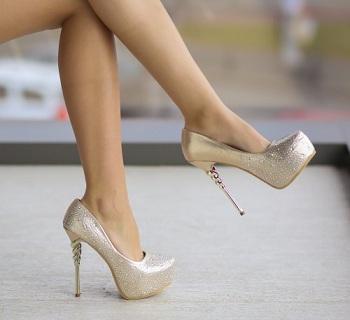 Pantofi Bufy Aurii