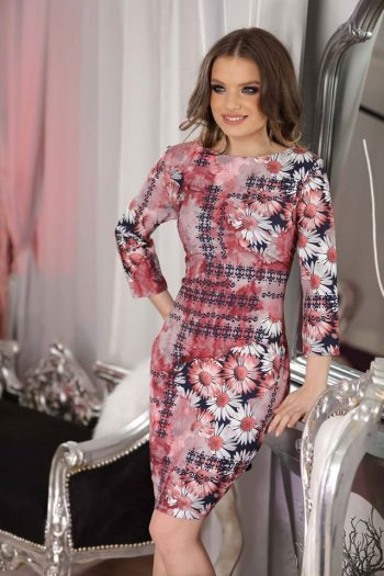 Rochie De Seara Floral Style Pink