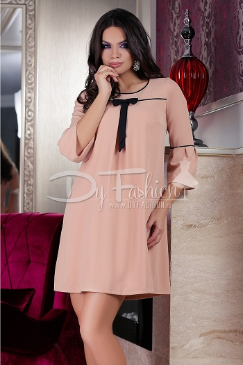 Rochie Pale Pink Delicate Bow