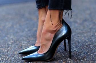 Pantofi Stiletto Negri – Modele Online 2017 Superbe cu Toc Inalt