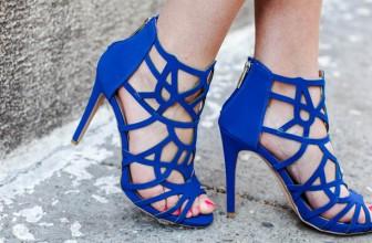 Modele de Sandale Albastre Elegante cu Toc sau Talpa Joasa