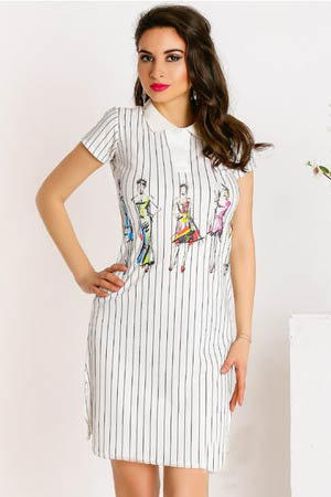 rochie casual in dungi verticale