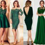 rochii verde smarald