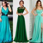 rochii verzi lungi