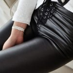 pantaloni piele dama
