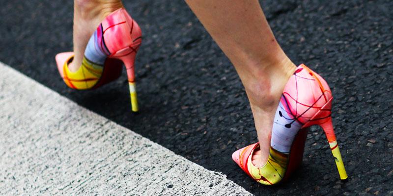 pantofi stiletto colorati