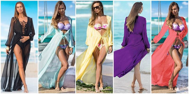 rochii de plaja lungi din voal