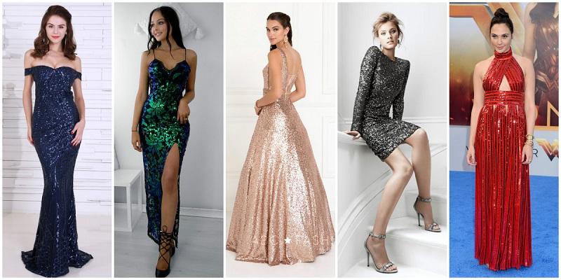 rochii elegante cu paiete