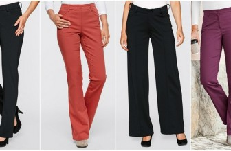 Pantaloni de Dama cu Talie Inalta Eleganti Pentru Office
