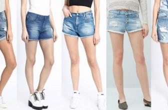 Modele de Pantaloni Scurti cu Talie Inalta de Dama